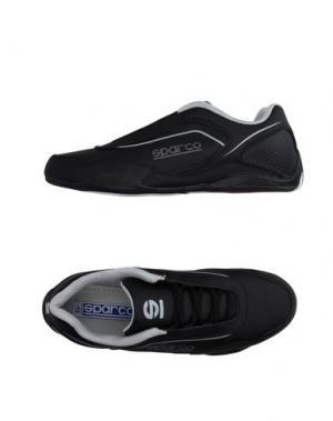 Низкие кеды и кроссовки SPARCO. Цвет: черный