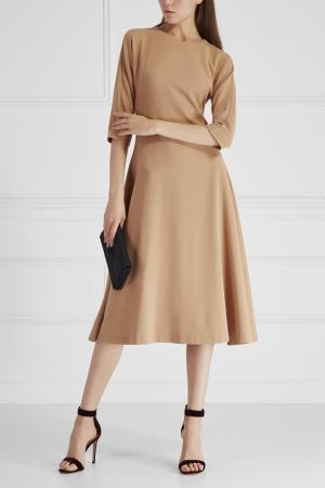 Однотонное платье Cyrille Gassiline. Цвет: пудровый