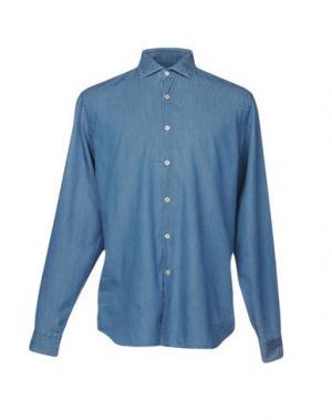 Джинсовая рубашка ALESSANDRO GHERARDI. Цвет: синий