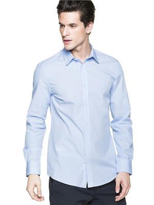 Рубашка United Colors of Benetton. Цвет: светло-серый, фиолетовый