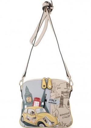 Маленькая кожаная сумка с нашивкой Curanni. Цвет: мультиколор