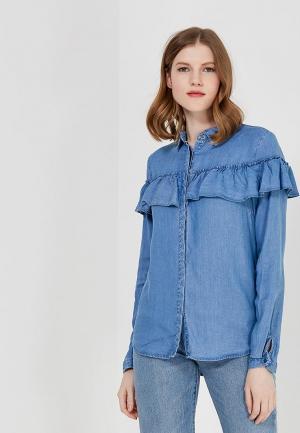Рубашка джинсовая Vila. Цвет: синий