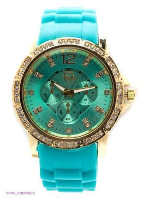 Часы Taya. Цвет: зеленый, золотистый
