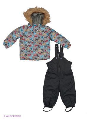 Комплект(куртка, полукомбинезон) Cherubino. Цвет: серый