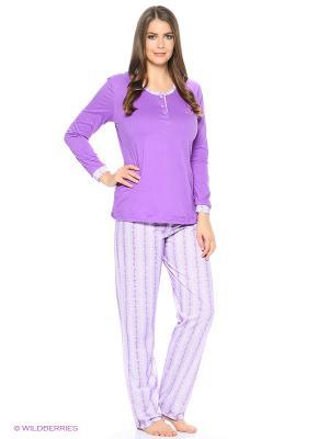 Пижама Vilana. Цвет: фиолетовый