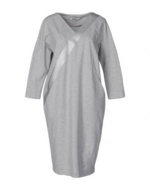 Платье до колена BARBON. Цвет: серый