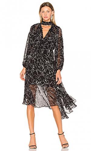 Макси платье tuberose Lover. Цвет: черный