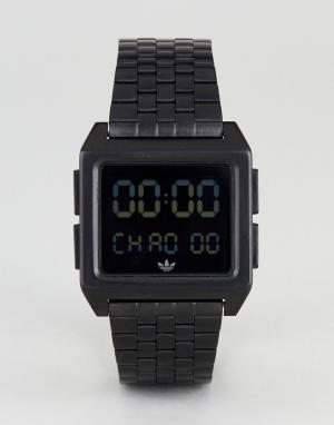 Adidas Черные электронные наручные часы Z01 Archive. Цвет: черный