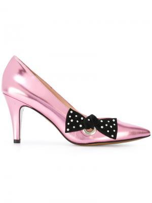 Туфли с бантом Marc Jacobs. Цвет: розовый и фиолетовый