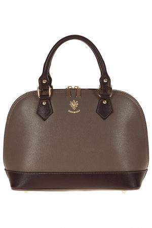 Bag GIULIA. Цвет: dark taupe and  brown