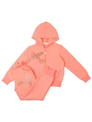 Спортивный костюм для девочки 7 одежек. Цвет: персиковый