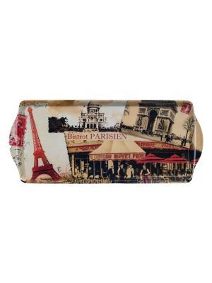 Поднос 33,8 х 16,9 см,  Парижское бистро Orval. Цвет: бежевый, красный