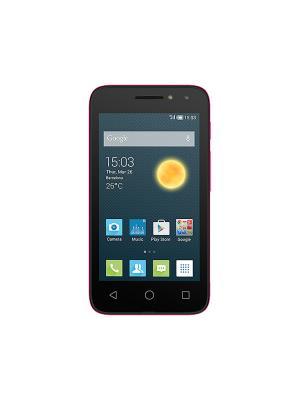 Смартфон  Alcatel 4034D PIXI 4 Neon Pink. Цвет: розовый, черный