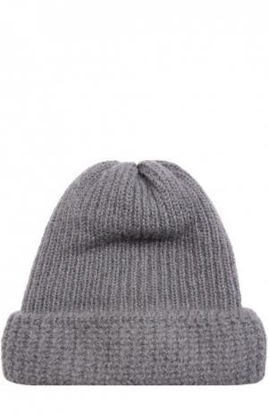 Вязаная шапка из смеси шерсти и мохера Tak.Ori. Цвет: серый