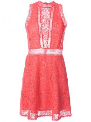 Короткое платье крючком Rebecca Taylor. Цвет: розовый и фиолетовый