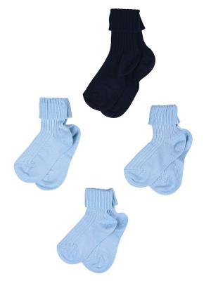 Носки Детские,комплект 4шт Malerba. Цвет: синий, голубой