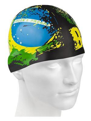 Шапочки для плавания Mad Wave. Цвет: черный, синий, зеленый, желтый