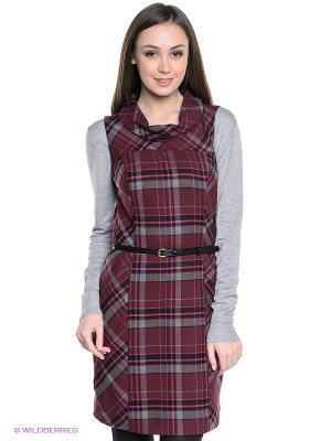 Платье S.OLIVER. Цвет: бордовый, темно-серый, черный