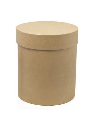 Коробка крафт цилиндр для цветов Натуральный VELD-CO. Цвет: бежевый