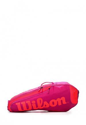 Чехол для ракеток Wilson. Цвет: фуксия