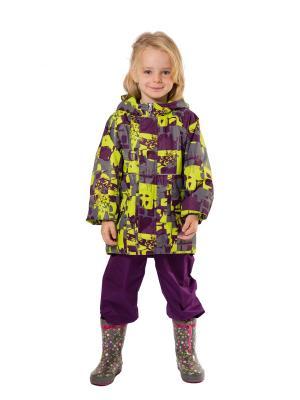 Куртка SAIMA. Цвет: салатовый, фиолетовый