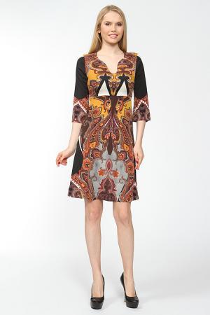 Платье этнические узоры Arrangee. Цвет: охра
