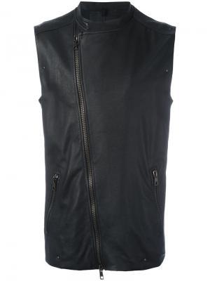 Байкерская куртка без рукавов Tom Rebl. Цвет: чёрный