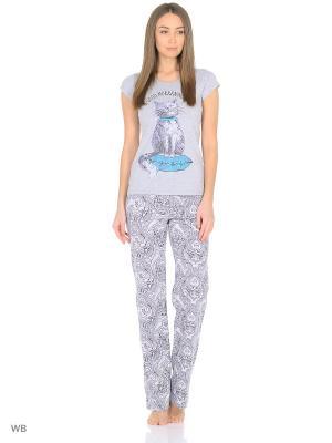Пижама Infinity Lingerie. Цвет: серый, голубой