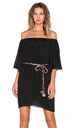 Платье со спущенными плечами 3/4 sleeve T-Bags LosAngeles. Цвет: черный
