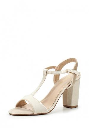 Босоножки Style Shoes. Цвет: бежевый