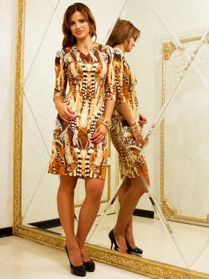 Платье Lussotico. Цвет: коричневый, бежевый