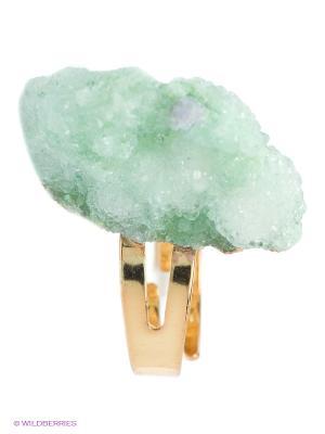 Кольцо Kameo-bis. Цвет: светло-зеленый, золотистый