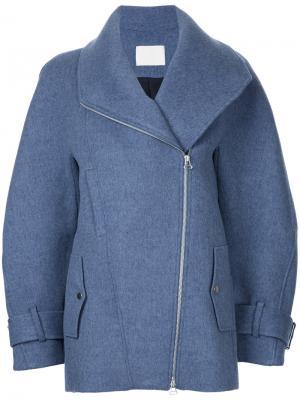 Пальто на молнии Dion Lee. Цвет: синий