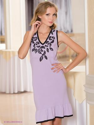 Платье Sparkle. Цвет: сиреневый, черный