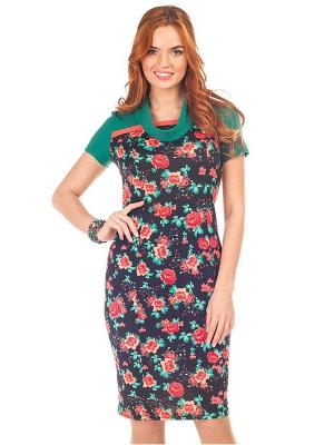 Платье VENUSITA. Цвет: коралловый, синий