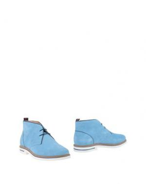 Полусапоги и высокие ботинки SNOBS®. Цвет: небесно-голубой