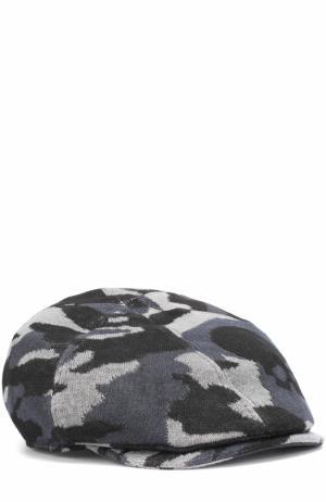 Льняное кепи с камуфляжным принтом Gemma. H. Цвет: черный