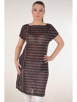 Туника MONO collection. Цвет: черный, серый, темно-бордовый