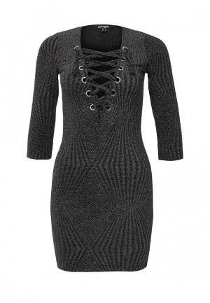 Платье Jennyfer. Цвет: серебряный