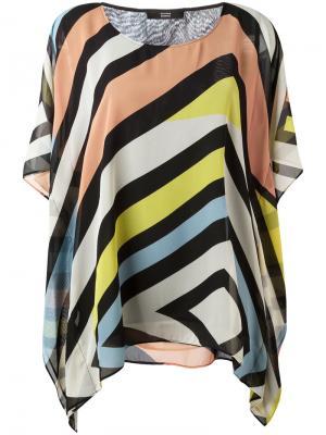 Блузка в полоску Steffen Schraut. Цвет: многоцветный