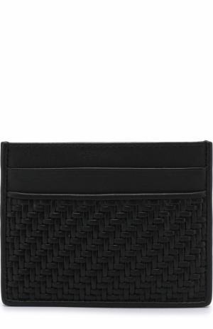 Кожаный футляр для кредитных карт Ermenegildo Zegna. Цвет: черный