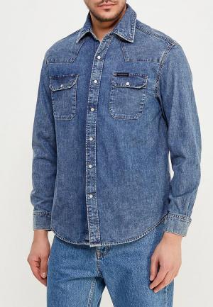 Рубашка джинсовая Calvin Klein Jeans. Цвет: синий