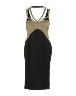 Платье до колена EXPLOSION. Цвет: черный