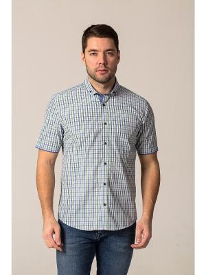 Рубашка John Jeniford. Цвет: синий, зеленый