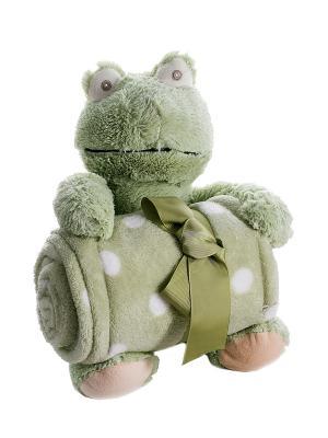 Плед с игрушкой Русские подарки. Цвет: светло-зеленый