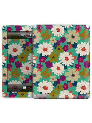 Наклейка для iPad 2,3,4 Vintage Flowers-Melody Miller Gelaskins. Цвет: бирюзовый, малиновый, бежевый, синий