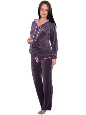 Спортивный костюм Flammber. Цвет: серый, розовый