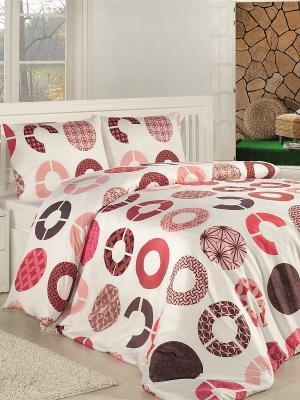 Комплект постельного белья ALTINBASAK. Цвет: молочный, розовый