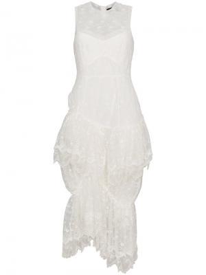 Платье без рукавов с кружевной отделкой Simone Rocha. Цвет: телесный