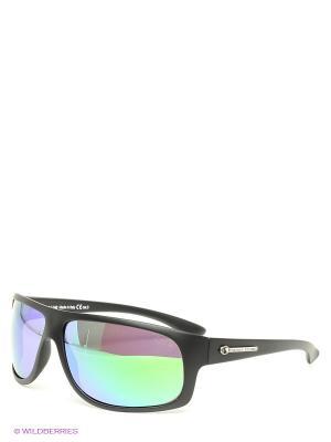 Солнцезащитные очки Franco Sordelli. Цвет: черный, зеленый